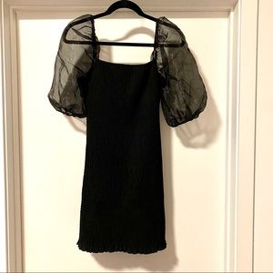Forever21 Black Cocktail Dress with Retro Sleeves